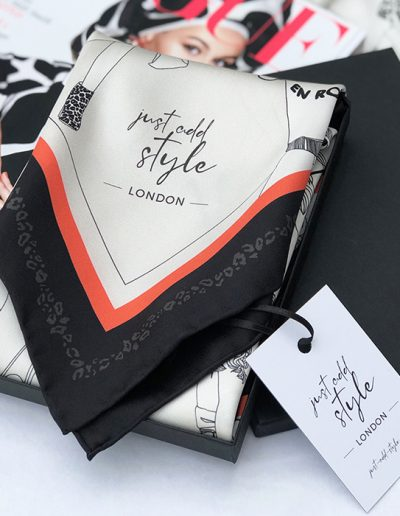 London Fashion luxury silk scarf